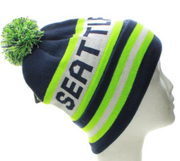 Seahawks-beanie-with-pom